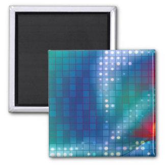 Fondo abstracto de la rejilla del fractal imán cuadrado