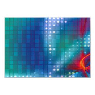 """Fondo abstracto de la rejilla del fractal invitación 3.5"""" x 5"""""""