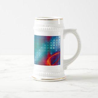 Fondo abstracto de la rejilla del fractal jarra de cerveza