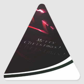 Fondo abstracto de las cintas del navidad pegatina triangular