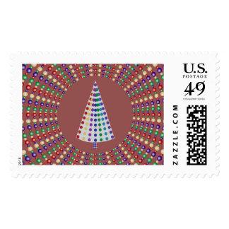 Fondo abstracto del anillo del diseño w del árbol sellos postales
