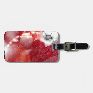 Fondo abstracto del deporte del fútbol etiqueta para equipaje