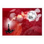 Fondo abstracto del deporte del fútbol tarjeta postal