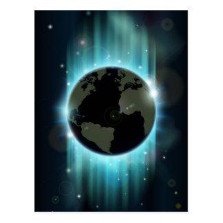 Fondo abstracto del espacio del globo del mundo postal