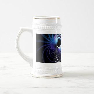 Fondo abstracto del espiral del fractal jarra de cerveza