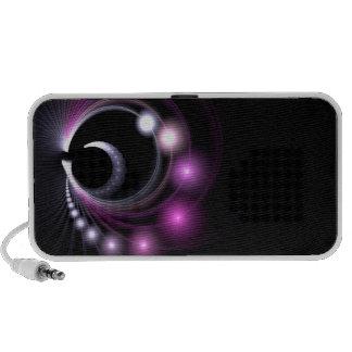 Fondo abstracto del fractal iPod altavoces