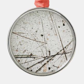Fondo abstracto del grunge adorno navideño redondo de metal