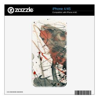 Fondo abstracto del grunge, textura de la tinta. 5 calcomanías para iPhone 4S