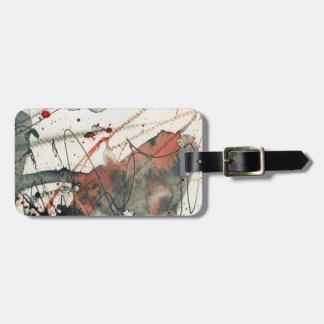Fondo abstracto del grunge, textura de la tinta. 5 etiquetas bolsa
