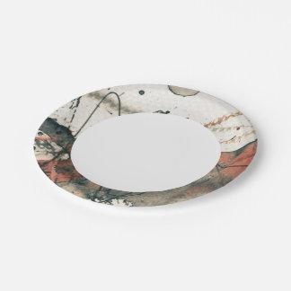Fondo abstracto del grunge, textura de la tinta. 5 platos de papel