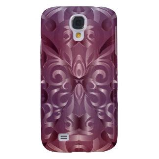 Fondo abstracto floral de la galaxia S4 de Samsung Funda Para Galaxy S4
