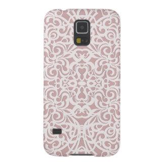 Fondo abstracto floral de la galaxia S5 de Samsung Carcasas Para Galaxy S5