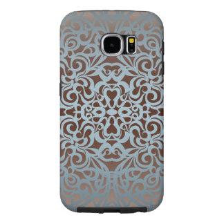 Fondo abstracto floral de la galaxia S6 de Samsung Fundas Samsung Galaxy S6