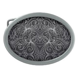 Fondo abstracto floral de la hebilla del cinturón hebillas cinturón ovales