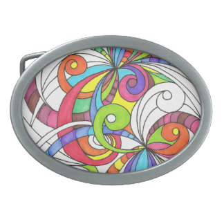 Fondo abstracto floral de la hebilla del cinturón hebillas de cinturón ovales