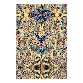 Fondo abstracto floral de la impresión de la foto fotografía