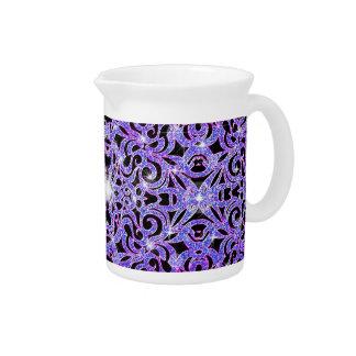 Fondo abstracto floral de la jarra