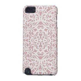 fondo abstracto floral de la mota de la caja de funda para iPod touch 5G