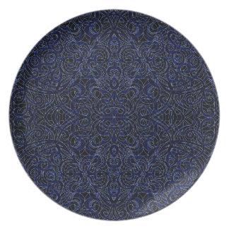 Fondo abstracto floral de la placa platos para fiestas