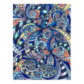 Fondo abstracto floral de la postal