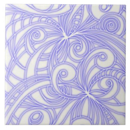 Fondo abstracto floral de la teja