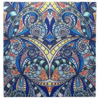 Fondo abstracto floral de las servilletas
