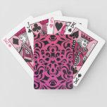 Fondo abstracto floral de los naipes cartas de juego