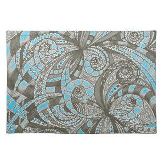 Fondo abstracto floral de Placemat Mantel Individual