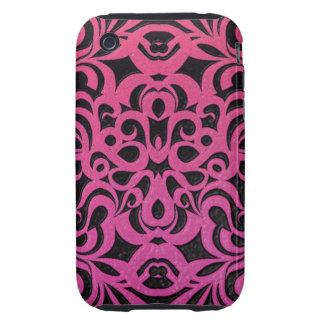 fondo abstracto floral del caso del iPhone 3G/3GS Tough iPhone 3 Carcasa