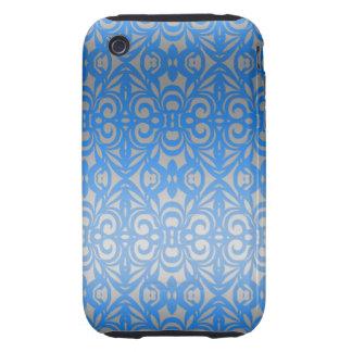 fondo abstracto floral del caso del iPhone 3G/3GS Tough iPhone 3 Protectores