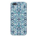 fondo abstracto floral del caso del iPhone 4 iPhone 5 Protector