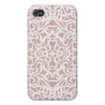 fondo abstracto floral del caso del iPhone 4 iPhone 4/4S Fundas