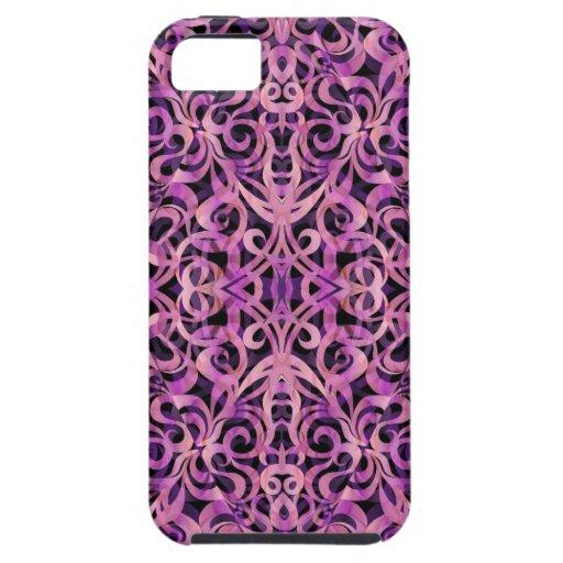 fondo abstracto floral del caso del iPhone 5 iPhone 5 Funda