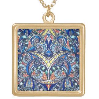 Fondo abstracto floral del collar