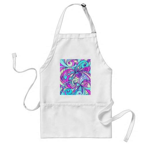 Fondo abstracto floral del delantal