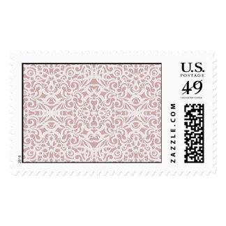 Fondo abstracto floral del franqueo sellos postales