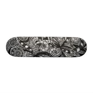 Fondo abstracto floral del monopatín patinetas personalizadas