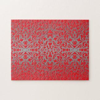 Fondo abstracto floral del rompecabezas