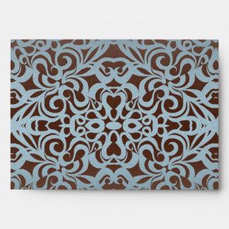 Fondo abstracto floral del sobre