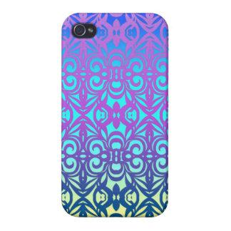 fondo abstracto floral listo del caso del iPhone 4 iPhone 4/4S Carcasa