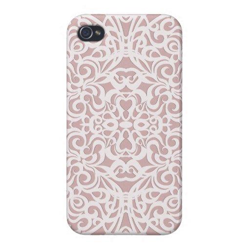 fondo abstracto floral listo del caso del iPhone 4 iPhone 4 Carcasa