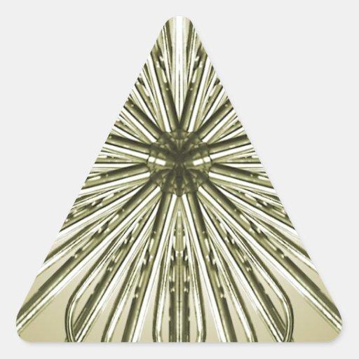 Fondo abstracto geométrico calcomanía triangulo