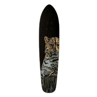 """Fondo abstracto hermoso del negro del tigre patineta 8 1/8"""""""