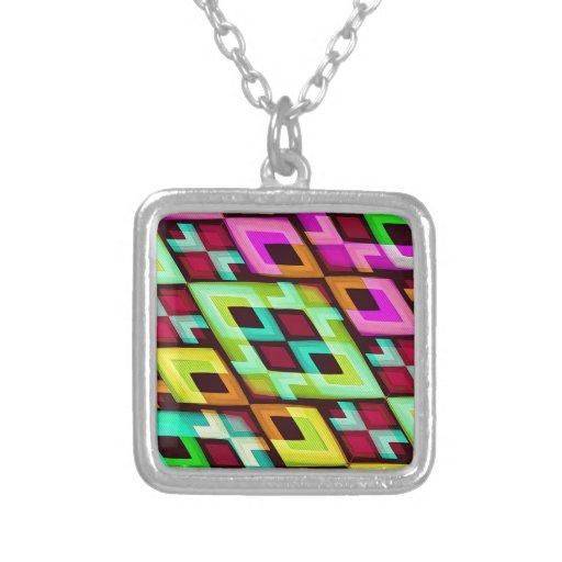 Fondo abstracto moderno multicolor collar personalizado