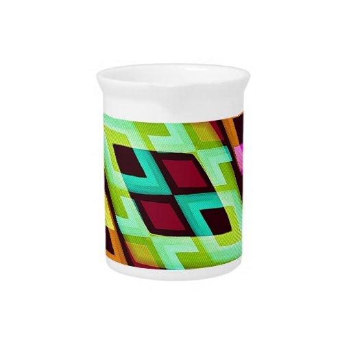 Fondo abstracto moderno multicolor jarras