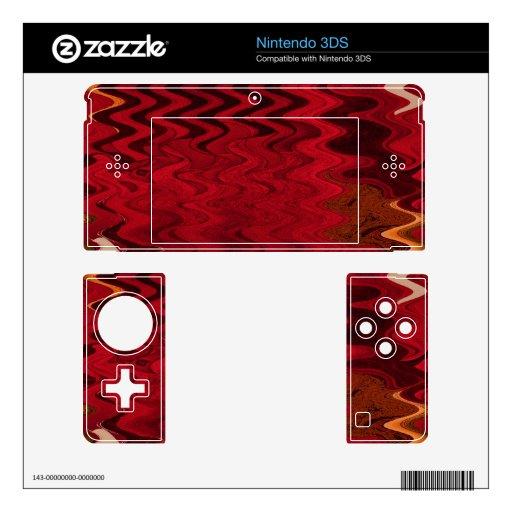 fondo abstracto negro rojo elegante calcomanía para 3DS