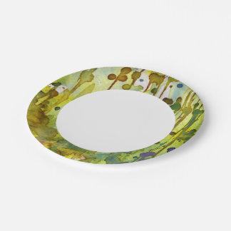 fondo abstracto platos de papel
