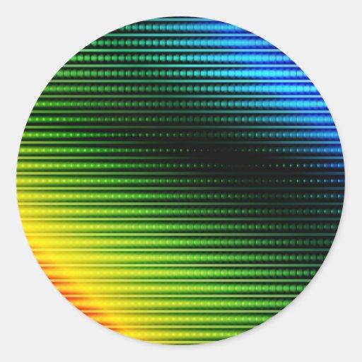 Fondo abstracto que brilla intensamente pegatina redonda