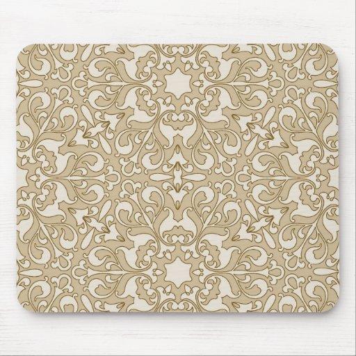 Fondo adornado floral tapete de ratón