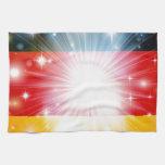 Fondo alemán de la bandera toallas